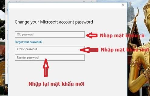 đổi mật khẩu máy tính