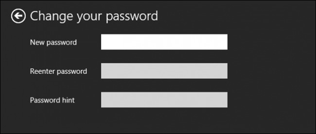 đổi mật khẩu win 8